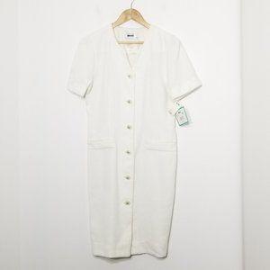 Leslie Fay Vintage 🆕️Pearl Button Shirt Dress 10P